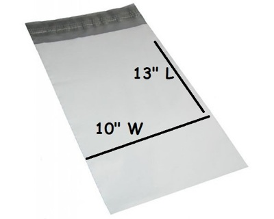 "QTY of 6 - 10x13"" - POLY BAG SHIPPING ENVELOPES Self-Sealing 16 w/GIN!! =_)"