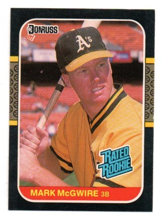 1987 Donruss Mark Mcgwire Rated Rookie