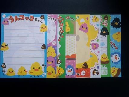 "*Rare* Q-Lia ""UNKO"" ~ Bid For '8' Mini's or GIN For '10' + '8' LG Matched Memo Sheets ☆Kawaii Bonus☆"
