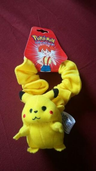 Pokemon scrunchy PIKACHU..ORIGINAL 1996