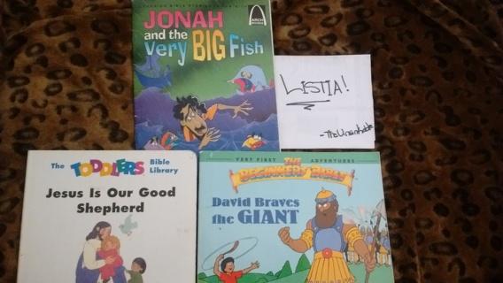 GIN BONUS! Small Lot of 3 Gently Used Religious Children's Books!