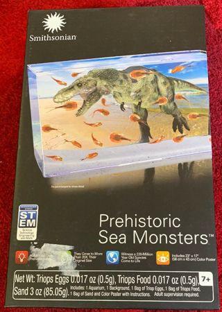 SMITHSONIAN Sea Monsters /Monkey Earth SCIENCE KIT Prehistoric Triops eggs