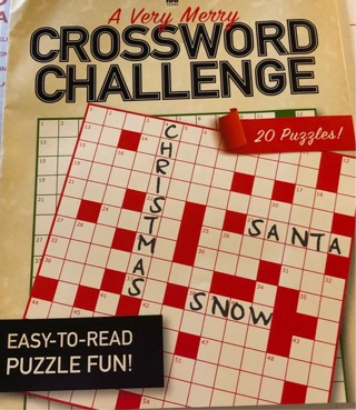 "Brand New Copy Of ""A Very Merry Christmas Crossword Challenge Book. 20 XMas Puzzle Games In All."