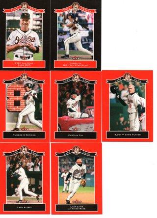 (7) 2001 Fleer Cal Ripken Jr. Final Season Cards