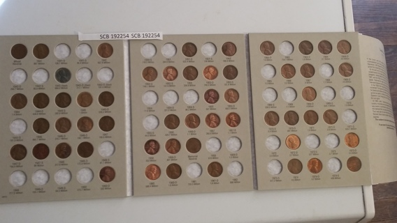 1941-1974 Lincoln cent Harris folder started with 54 coins pennies 192254