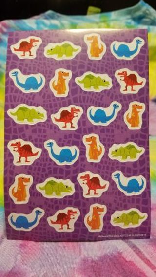 1 SHEET OF COLORFUL DIFFERENT DINOSAUR STICKERS