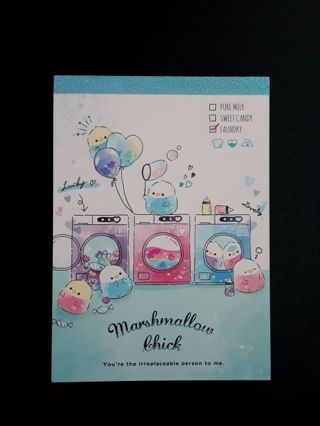 "*Large* Q-LIA '2019' LG ""Marshmallow Chick"" Memo Pad ~6 Designs/120 Sheets~ ☆Kawaii Bonuses☆"