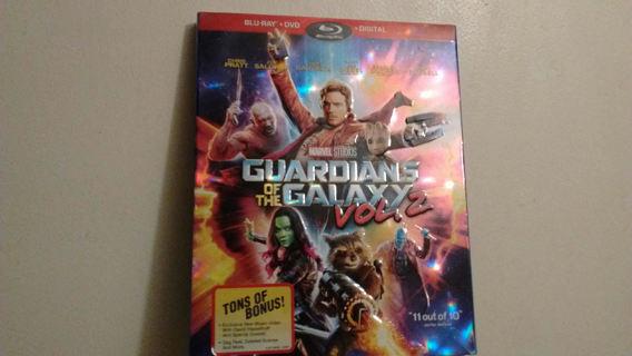NEW Guardians Of The Galaxy Vol. 2 Blu-Ray + DVD +Digital