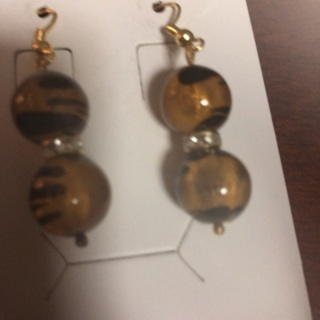 Tiger eye earrings. #1