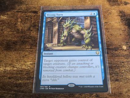 Magic the gathering mtg Wrong Turn rare card Commander Legends
