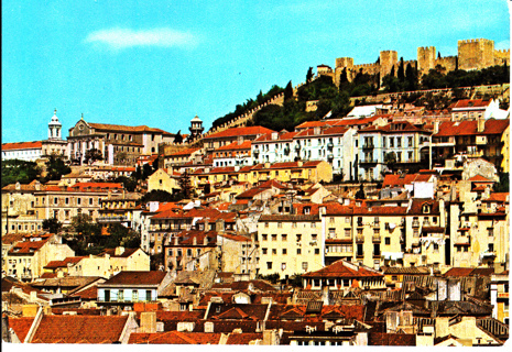 Vintage Postcard Lisbon, Spain