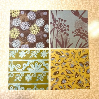 Craft Paper  4 pc  each one 6 x 6 inch