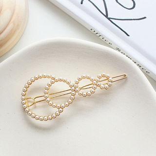 Women Fashion Pearl Hair Clip Snap Barrette Stick Hairpin Hair Accessories Gift
