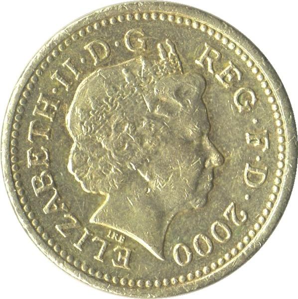 queen elizabeth 1 pound coin
