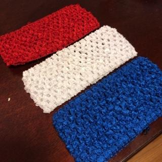 Three (3) Crochet, Stretchable Headbands. Great Stocking Stuffer. #33