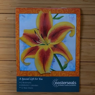 Floral Notepad with 2 Bookmarks and 2020 Calendar