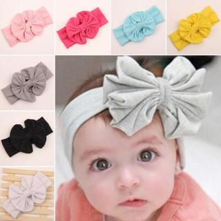 NEW Cute Girls Kids Baby Big Bow Hairband Headband Turban Stretch Knot Head Wrap