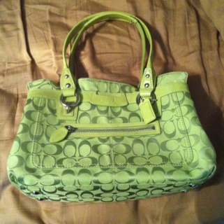 Free Coach Lime Green Penelope Handbag Shopper Purse #2: original s=320x320m&sig=c ec3228f3de&ts=