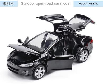 1:32 Tesla Model X90 Alloy Car Model High Simulation Metal Vehicles