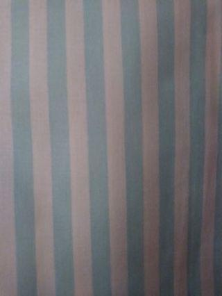 Half Yard: Blue/White Striped Fabric