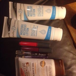 2 ulta lipgloss, 2 ulta eyeliners, 3 handcreams(details below)