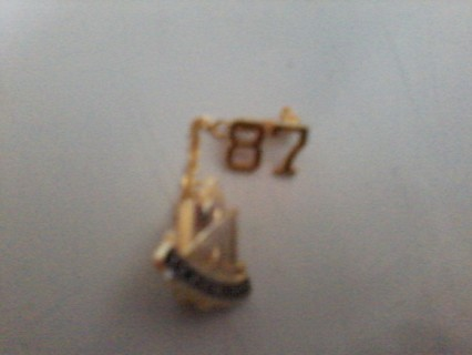 Gold Bell with 1987 Yearbook Charm