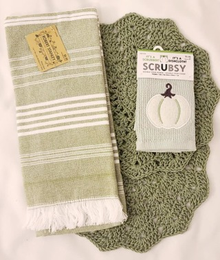 """Crochet 2 -9"""" dish/wash towels and 1 Dish Towel and 1 scrubby"""