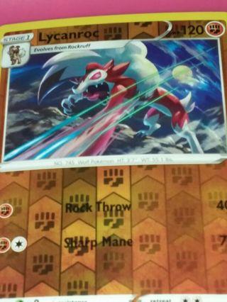 Vivid Voltage Rare Rev Holo Lycanroc Pokemon Card NM-MINT