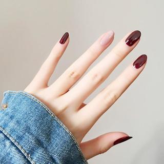 Almond fake Nails Solid colorJump color Diy Nail Art 10 style Medium length Tip Accessory 24 PCS g