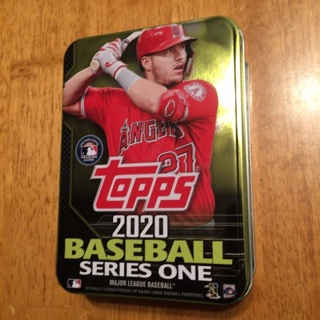 2020 Baseball Series One Topps Baseball Tin (empty) - Mike Trout