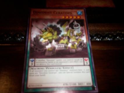 new yu-gi-oh dinomist ceratops card