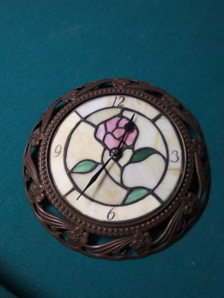 Stained glass clock antique
