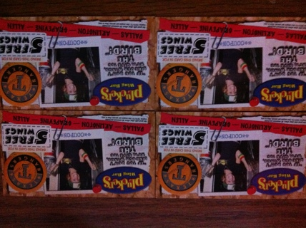 4 Pluckers - 5 Free Wings Coupons