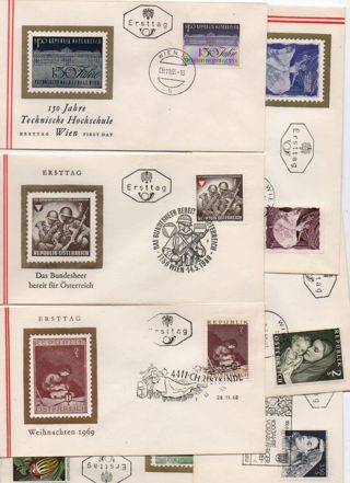I choose one FDC from Austria #3