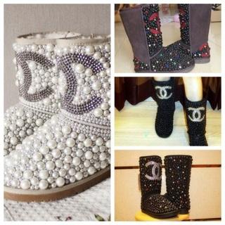 7d9238a17eb Free: Stunning ~Chanel Inspired Rhinestone Ugg Boots ~ so beautiful ...