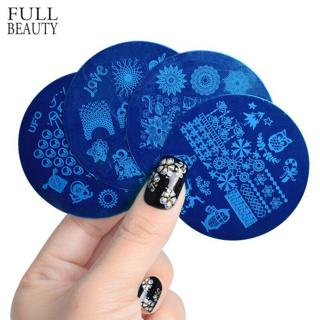 Full Beauty New 2018 Nail Stamping Plates Stainless Steel 28 Designs Polish Transfer Stencils Nail