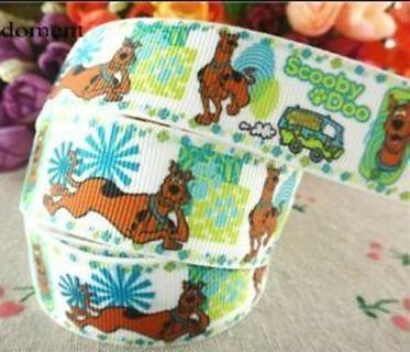 "Scooby Doo 1"" grosgrain ribbon 1 Yard NEW"