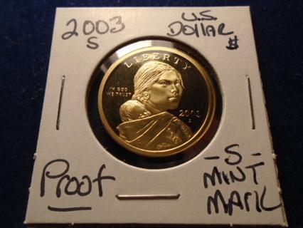 2003-S PROOF SACAGAWEA / NATIVE AMERICAN DOLLAR
