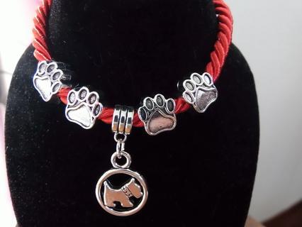 BN Dog Bracelet with paw prints