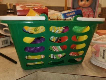 Toy food with basket