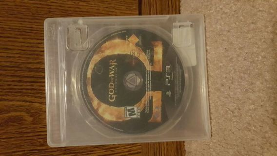 PS3....God of War: Ascension..... excellent condition...