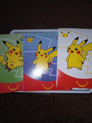 3 Pokemon booster packs mcdonalds