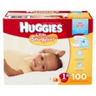 ONE HUNDRED HUGGIES DIAPERS-NWOB