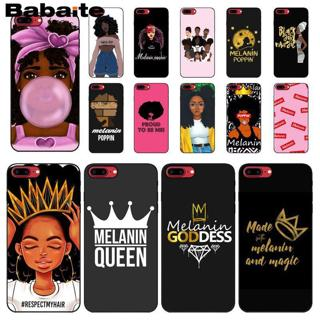 Babaite Melanin Poppin Aba girl DIY Printing Drawing Phone Case cover Shell for iPhone 6S 6plus 7