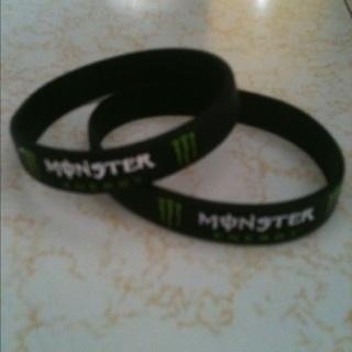 Two Monster Energy Bracelets