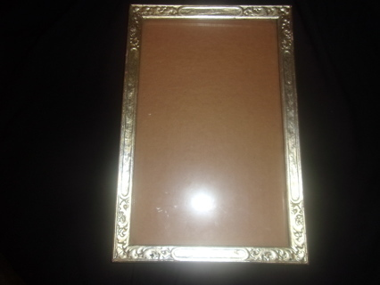 ANTIQUE Lilian .925 Silver Overlay on Wood Picture Frame MEASURES 12 X 8 INCHES