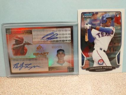 PROGRESSIVE BASEBALL AUCTION MOSTLY ROOKIES HALL OF FAMERS AUTO'S AND BASE