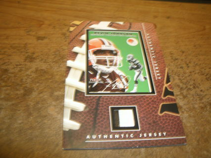 kevin johnson-browns-authentic jersey relic-2 color-nfl-look!