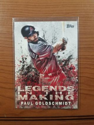 2018 Topps legends in the making. Paul Goldschmidt