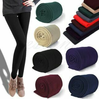 Womens Warm Winter Skinny Slim Leggings Stretch Pants Thick Footless Tights